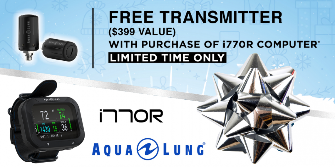 Get a free transmitter when you buy the Aqua Lung i770R!