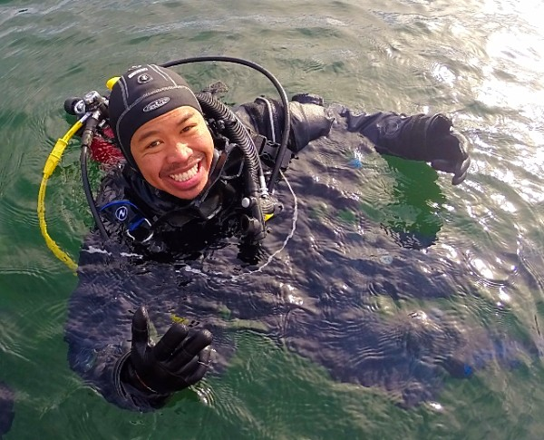 Open Water Diver student at the lake