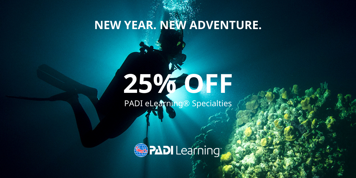 Save 25% of PADI eLearning Specialty courses